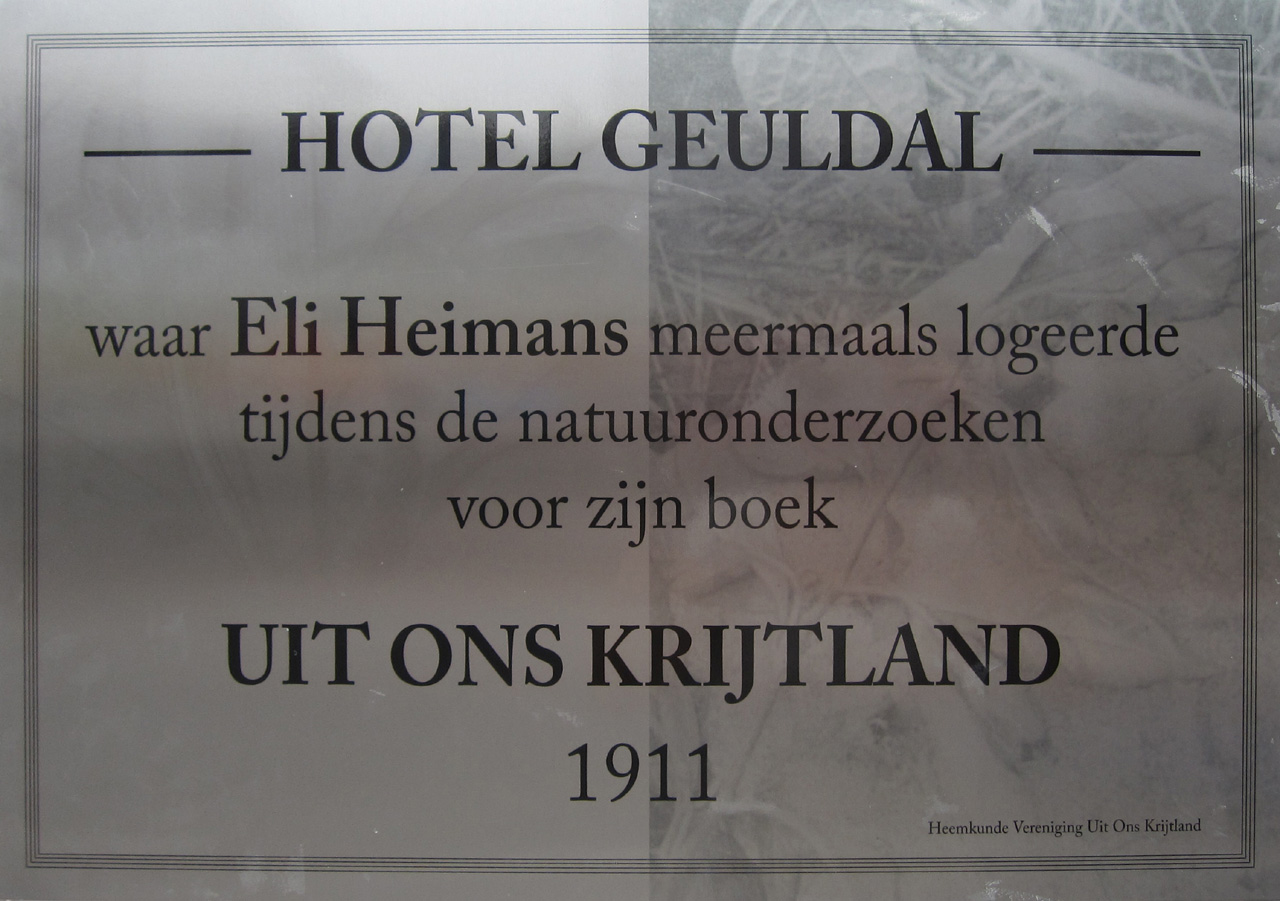 Eli Heimans in Hotel Geuldal